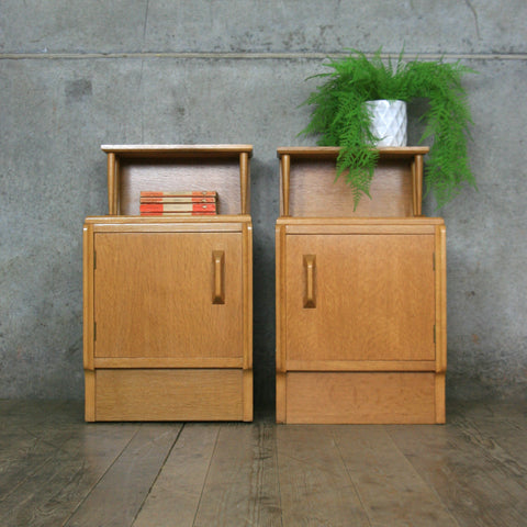Pair of Mid Century E-Gomme Bedside Cabinets