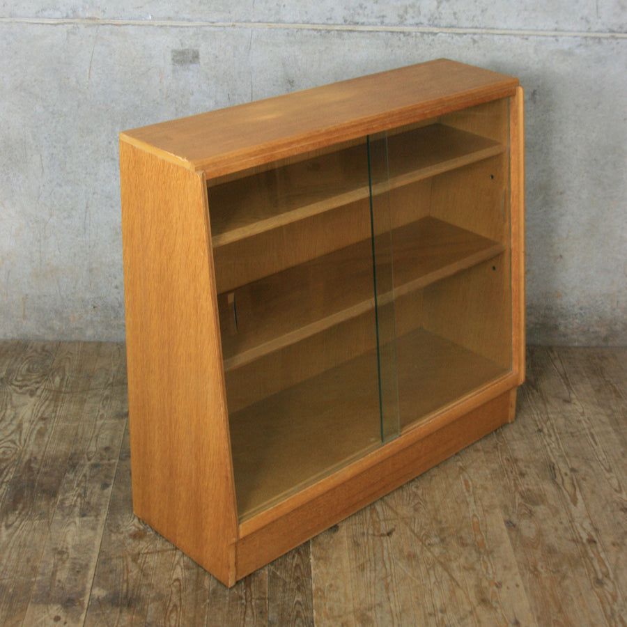 Mid Century Oak Glazed Storage / Shop Display Cabinet #2