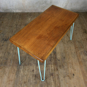 Reclaimed School Desk/Table with Hairpin Legs