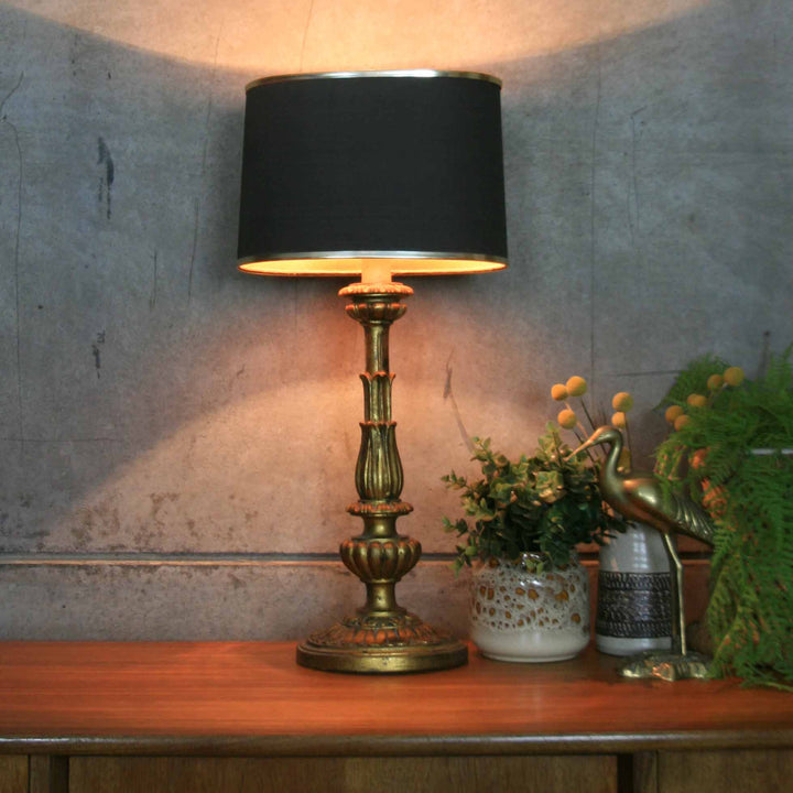 Vintage Hollywood Regency Gilded Lamp