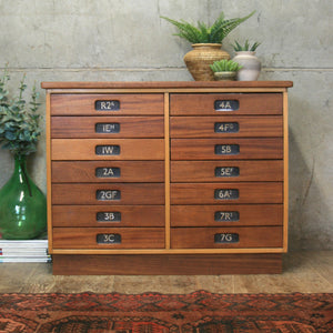 Vintage School Multi Drawers / Plan Chest - 0801h