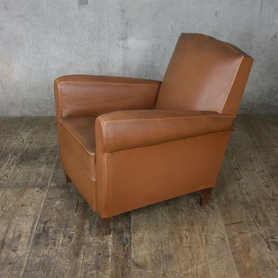 Vintage French Moustache Club Chair
