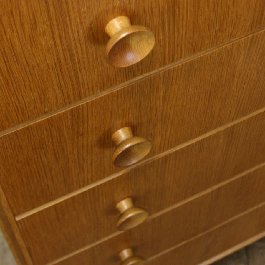 vintage_mid_century_meredew_oak_tallboy_chest_of_drawers