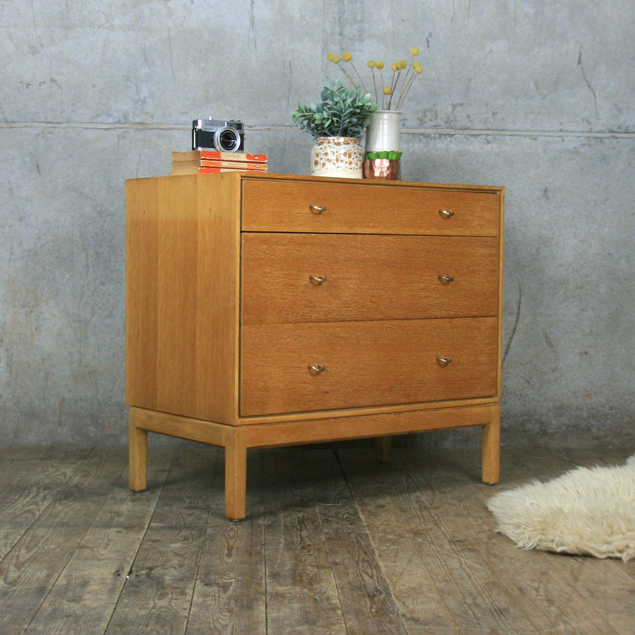 Mid Century Oak Stag Chest of Drawers