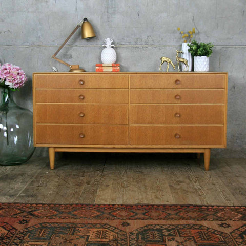 Mid Century Oak Chest of Drawers Sideboard