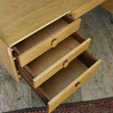 Mid Century Meredew Oak Desk / Dressing Table