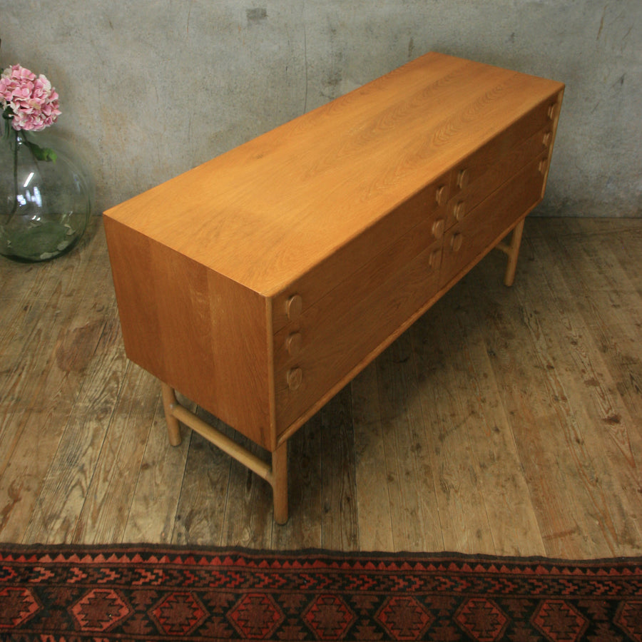 Mid Century Meredew Oak Chest of Drawers / Sideboard