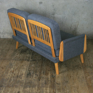 Fully Restored Mid Century Two Seater Sofa Bed
