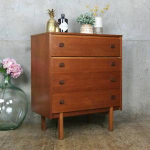Vintage Mid Century Teak Chest of Drawers