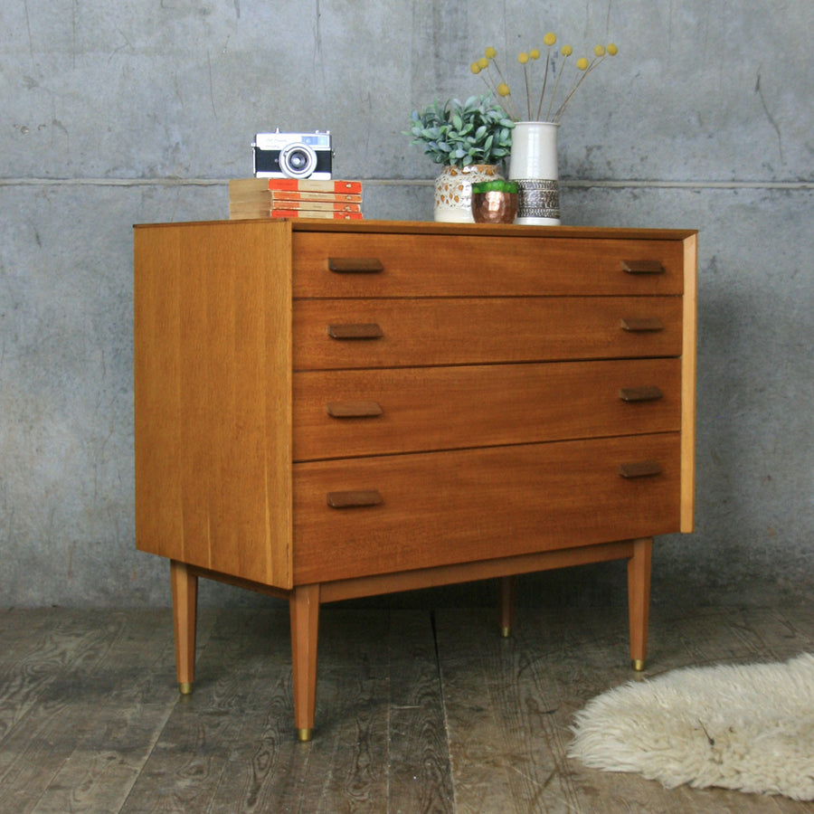 Mid Century  E-Gomme Teak Chest of Drawers