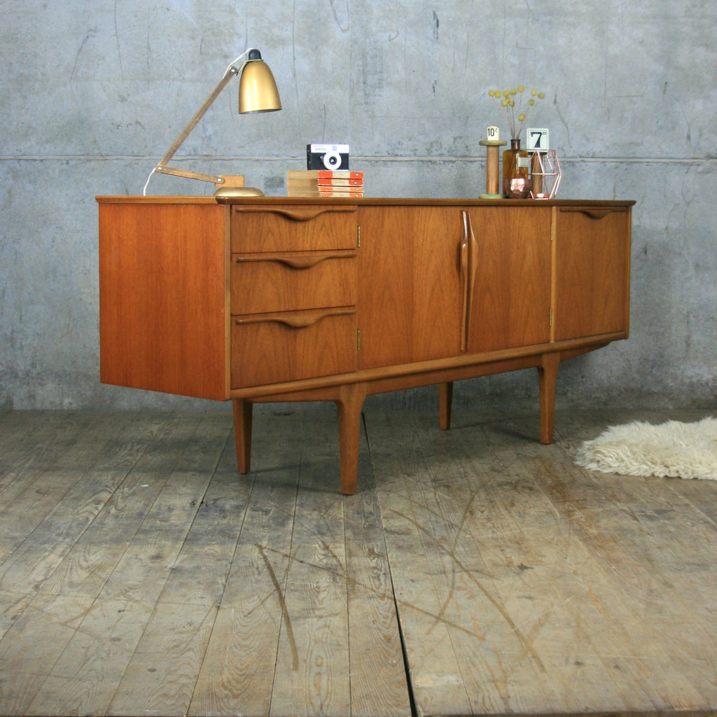 vintage jentique teak mid century sideboard mustard vintage. Black Bedroom Furniture Sets. Home Design Ideas