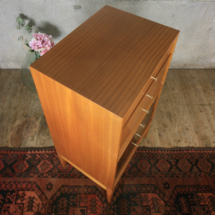 vintage_mid_century_uniflex_walnut_tallboy_chest_of_drawers