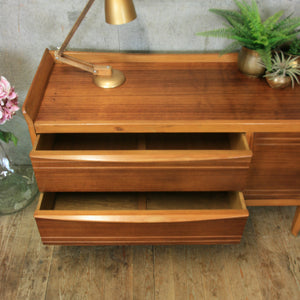 Mid Century Walnut Sideboard / Dressing Table 08/18