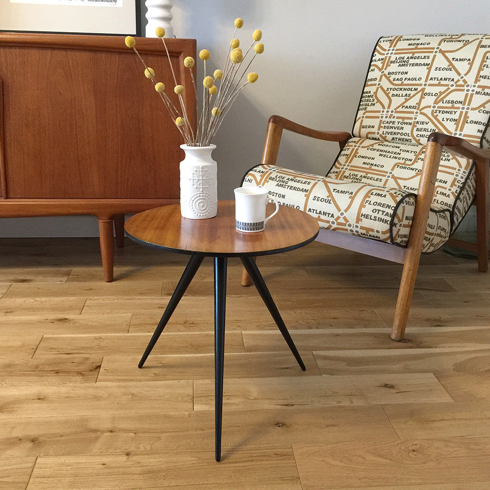 Mid Century Tripod Occasional Table