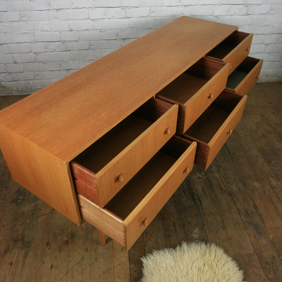 Mid Century Vintage Oak Chest of Drawers