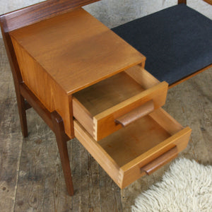Vintage Chippy Heath Teak Telephone Seat