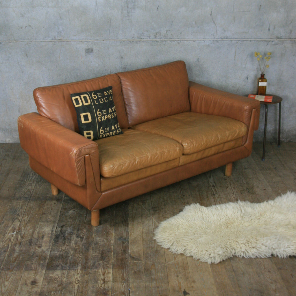 Vintage Danish Tan Leather Sofa Blitz Blog