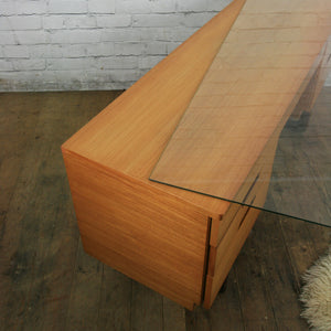 Mid Century Teak Uniflex Desk Dressing Table