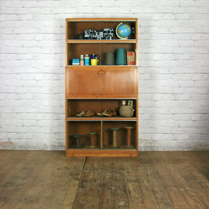 Vintage Oak Sectional Glazed Storage / Shop Display Cabinet / Bureau