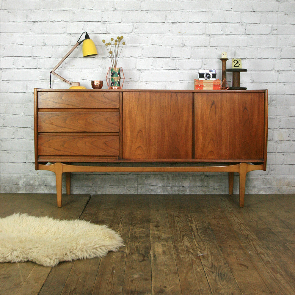 vintage nathan mid century teak sideboard mustard vintage. Black Bedroom Furniture Sets. Home Design Ideas