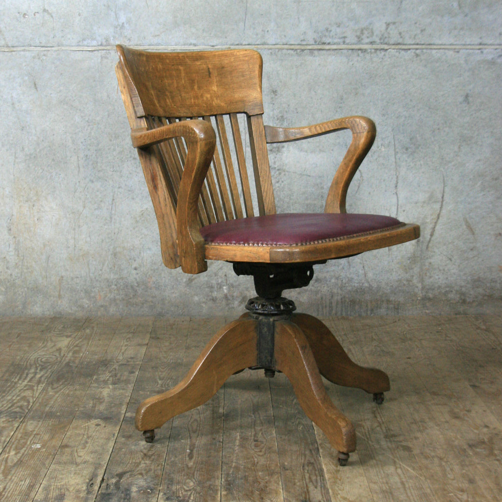 antique oak swivel desk chair antique furniture - Antique Swivel Desk Chair. Wooden Swivel Desk Chairs Foter. Wood