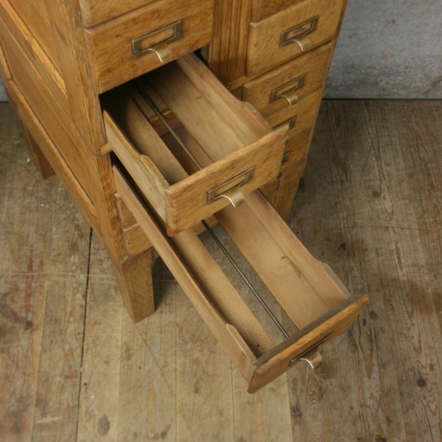 vintage_oak_antique_index_cabinet_wine_rack_storage