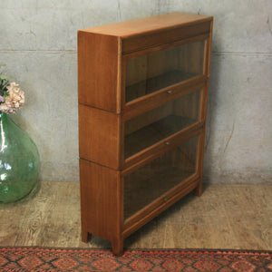 vintage_oak_barristers_solicitors_bookcase_cabinet
