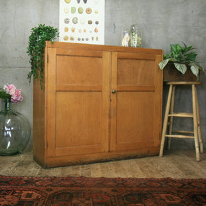 vintage_oak_beech_school_cupboard_storage