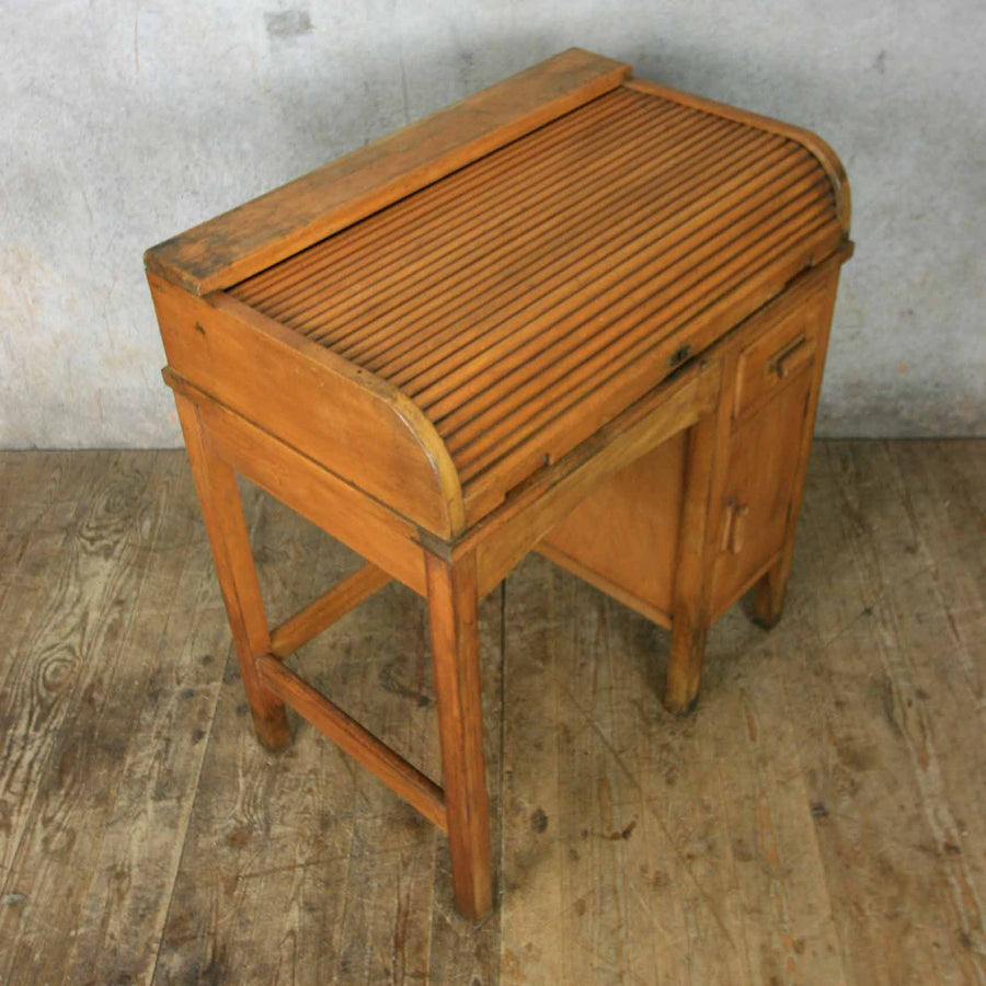 vintage_oak_childs_school_desk_&_chair