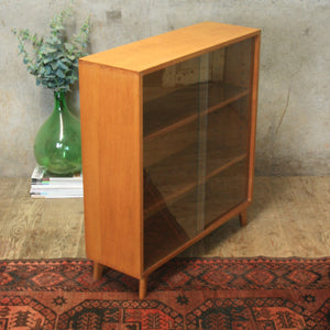 vintage_oak_display_cabinet_bookcase