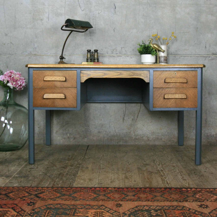 vintage_oak_farrow_&_ball_abbess_school_teacher_desk.1