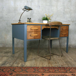 vintage_oak_farrow_&_ball_abbess_school_teacher_desk.3
