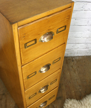 Vintage Oak Filing Cabinet / Chest of Drawers
