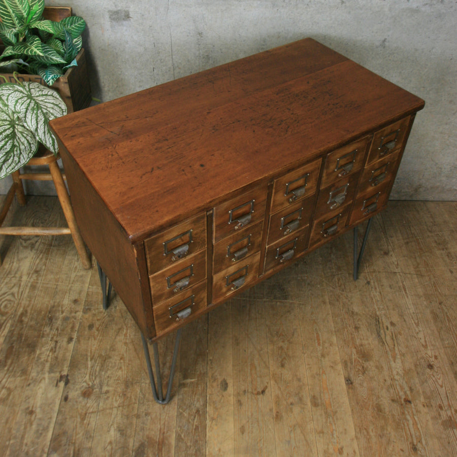 vintage_oak_index_cabinet_drawers_library_gin_bar_wine_storage