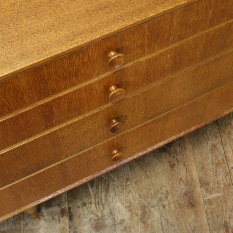 vintage_oak_mid_century_chest_of_drawers_sideboard