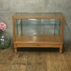 Vintage Oak Glazed Haberdashery Counter / Retail Display