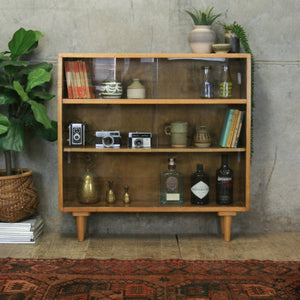 vintage_oak_remploy_glazed_display_cabinet_bookcase