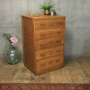 vintage_oak_rustic_chest_of_drawers