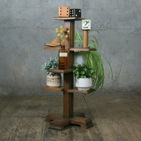 Rustic Oak Retail Display Stand / Plant Holder