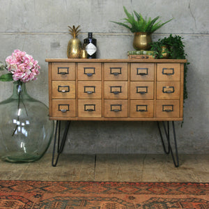 vintage_oak_rustic_index_cabinet_wine_storage_hairpin_legs.