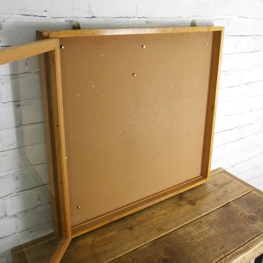 Vintage Oak Post Office Display Cabinet Frame