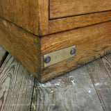Vintage Oak Printers/Artist Factory Drawers