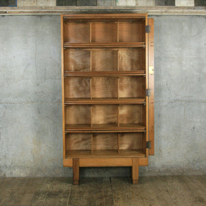 Mid Century Oak Solicitors Storage Cabinet #1