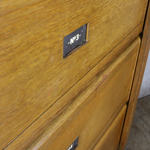 Mid Century Oak Solicitors Storage Cabinet #2