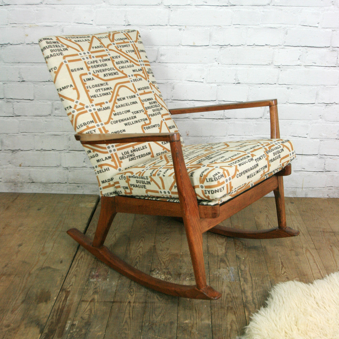 Excellent Vintage Restored Parker Knoll Rocking Chair Onthecornerstone Fun Painted Chair Ideas Images Onthecornerstoneorg