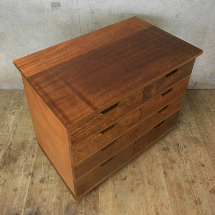 vintage_reclaimed_iroko_bank_of_drawers_plan_chest