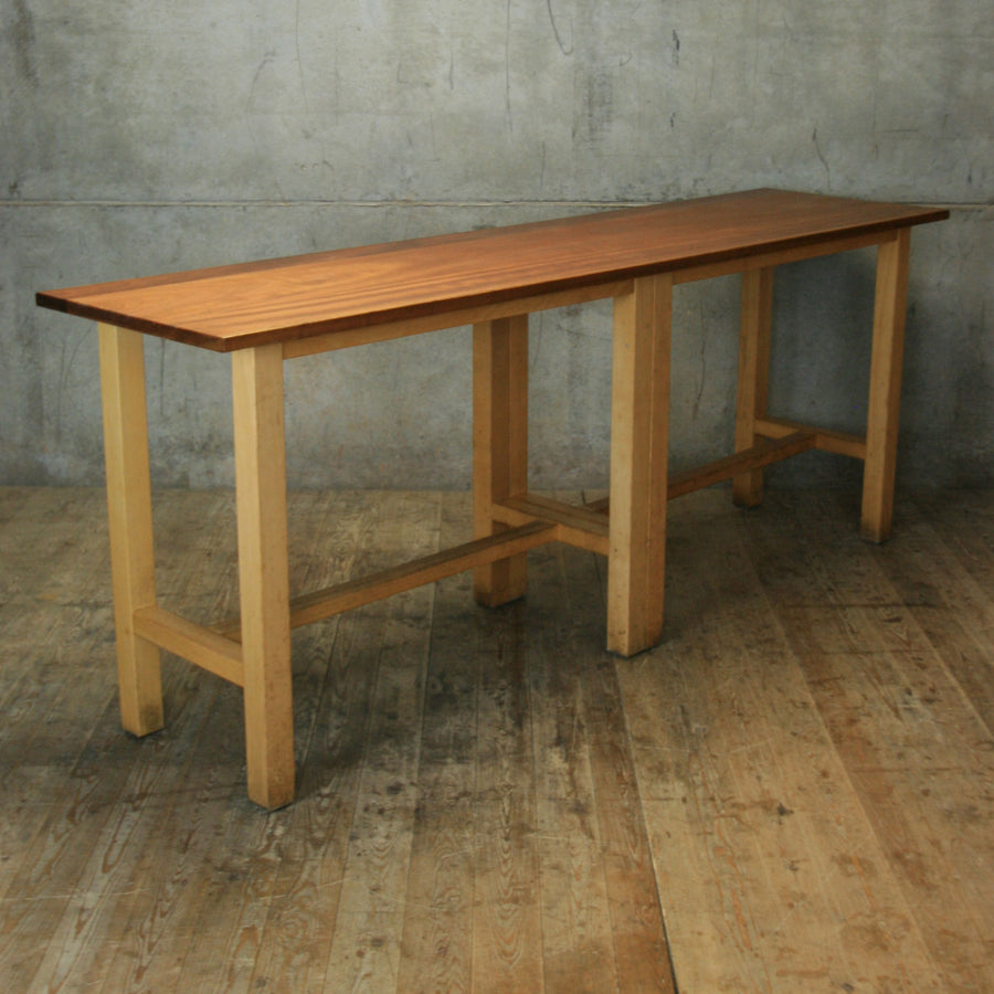 Reclaimed School Lab Table Breakfast Bar - 2006b