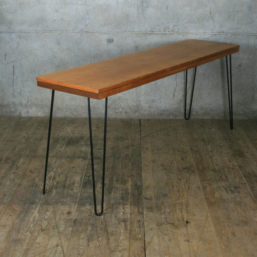 *NEW* Reclaimed Teak Breakfast/Bar Height Table with Hairpin Legs