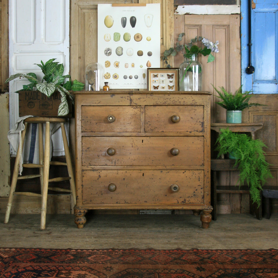 vintage_rustic_antique_pine_country_chest_of_drawers