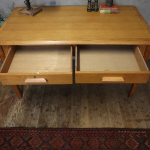 Vintage Oak Abbess Desk - 0105d